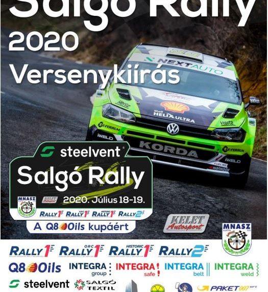 Steelvent Salgó Rally 2020.07.18-19.