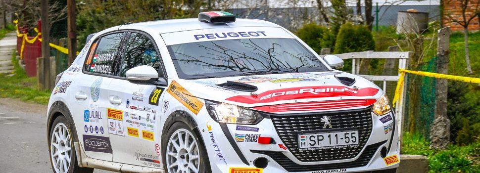 A Peugeot Kupa mellett a 2WD kupát is megnyerték Hangodiék a Boldogkő Rally-n!