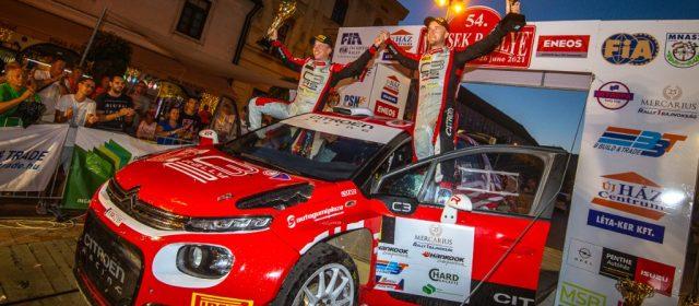 Rajt-cél győzelem a Citroënnel az 54. Mecsek Rallye-n